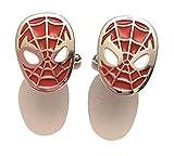 giulyscreations - Gemelos para Camisa de Spider-Man de Metal y níquel, diseño de...