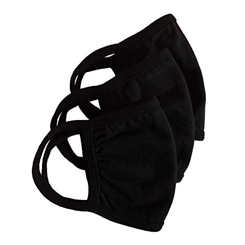 Washable 3 Layer 100% Cotton Jersey Reusable Mask. 3 Pack Unisex. Inside Pocket For Filter by Catherine Jinn