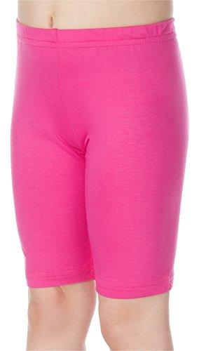 Merry Style Leggins Mallas Pantalones Cortos Ropa Deportiva Niña MS10-132 (Rosa, 110 cm)
