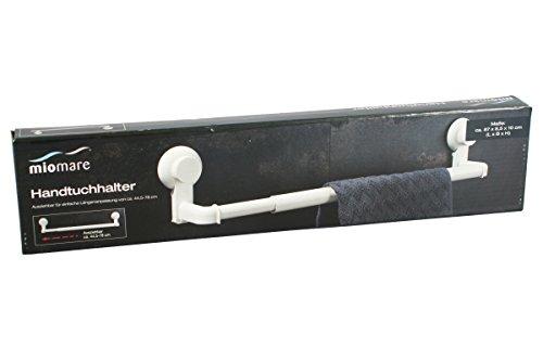 Miomare® Handtuchhalter ausziehbar für glatte Oberflächen Badezimmer