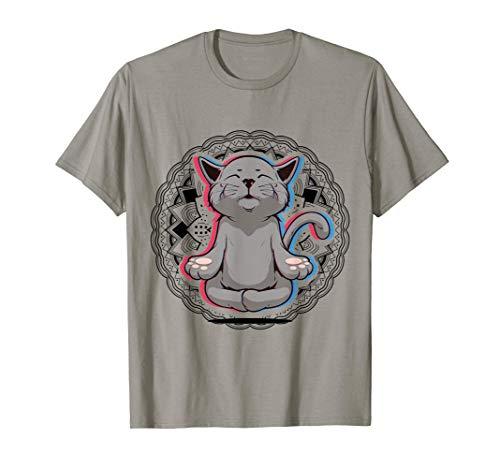 Acro Vinyasa Hatha Yoga Katze Meditation Mann Frau Geschenk T-Shirt