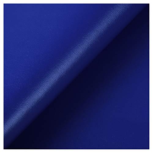 ZSFBIAO Hoja de Cuero de Imitacióntela por metrosCuero Vende por metros-41o Azul Oscuro 1.38×4m