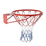zhangwei Indoor Outdoor Hanging Basketball Goal with All Weather Net Wall Mounted Basketball Hoop, Basketball Rim, Basketball Net, 15 inch/18inch for Kids, Junior, Adults, Professional, School, Home