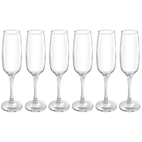 Conjunto De Taças Champagne Classic 180ml Com 6 Peças Mor