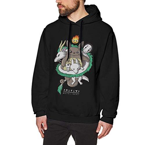 BAOQIN Lustige Ghibli Studio Totoro No Face Man Schöne Fantasy Herren Langarm Pullover Sweatshirts Hoodies