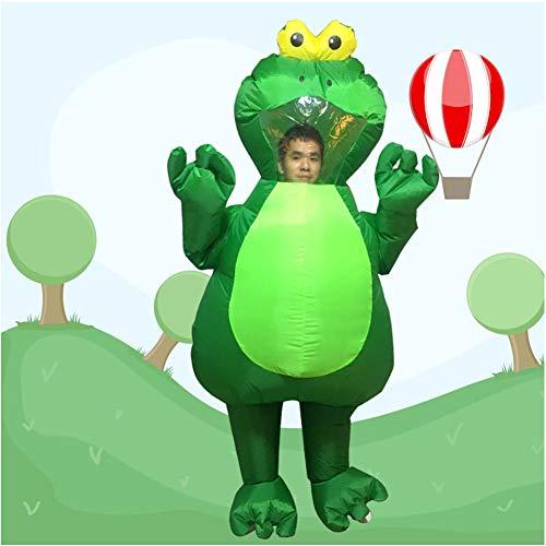 LINAG Lustige Aufblasbares Kostüm für Erwachsene Fasching, Aufblasbare Frosch Cosplay Kostüm für Karneval Halloween Kostüm für Damen und Herren Party Geschenk,A,OneSize