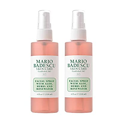 Mario Badescu Facial Spray with Aloe, Herbs & Rosewater, 4 Fl Oz (Pack of 2)