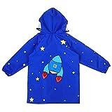 Giacche Impermeabile Bambino Cappotto di Pioggia Outwear Impermeabile con Cappuccio Blue R...