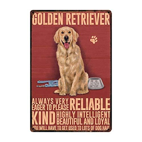SZLGPJ Pet Dogs Poodle Bulldog Beagle Schnauzer Boxer Metal Sign Posters Art Vintage Mural Painting Custom Decor y-1621