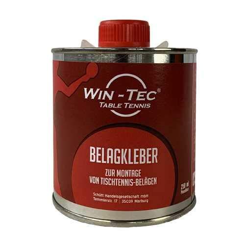 WIN-TEC Belagkleber Pinseldose (250 ml) - Kleber für Tischtennisbeläge/Lösungsmittelhaltig/TT-Spezial - Schütt Tischtennis