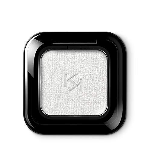 Kiko Milano High Pigment Eyeshadow 38 Sombra de Ojos, Alta Pigmentación en 5 Acabados Diferentes: Mate, Perlado, Metalizado, Satinado y Brillante, Larga Duración, Metallic Light Silver