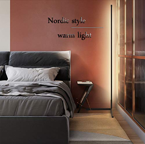 LáMpara de Pie Regulable, NóRdica de pie Moderna Flexo LED con Control Remoto Moda Esquina salón Dormitorio de Noche Lámpara [Clase de eficiencia energética A++]
