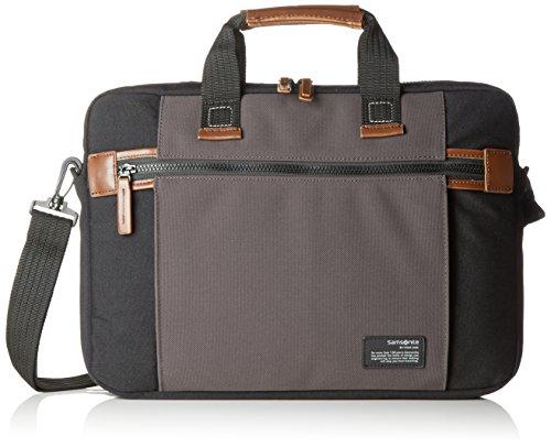 "Samsonite Sideways Laptop Bag 15.6"" Bolso Bandolera, 10.5 Litros, Color Negro/Gris"