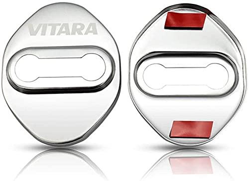 4 Unids Cubierta de la Cerradura de la Puerta del AutomóVil, para Suzuki Vitara Acero Inoxidable Car Styling Proteccion Accesorios Cubierta Antioxidante