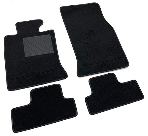 Tappetini per Mini R56 2006-2014 con Sistema Fix Velcro, su Misura, Antiscivolo, battitacco in PVC