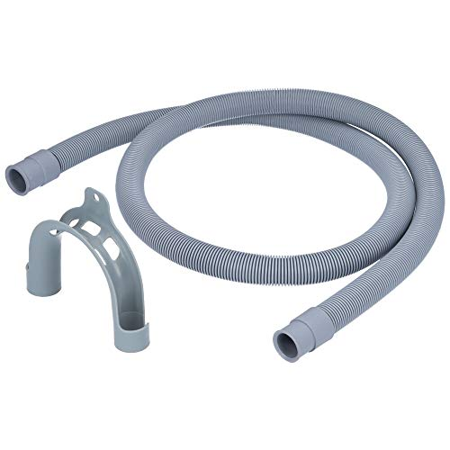 Ablaufschlauch/Verlängerung mit Haltebogen für Waschmaschine oder Spülmaschine - 2 Meter
