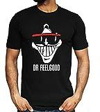 Dr. Feelgood Camiseta de Manga Corta Gráficos de Tendencia Pirografía Suelta con Cuello Redondo Camiseta 3D Moda con Cuello en o Estudiante Ocio Viaje Viaje Trabajo