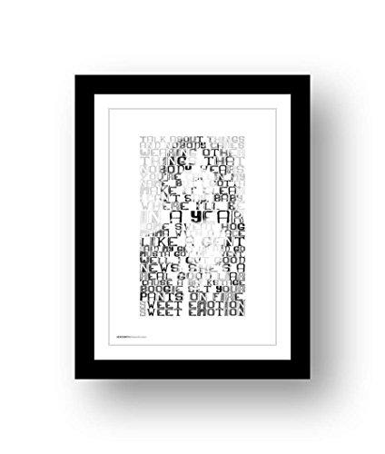 AEROSMITH Sweet Emotion – A3 Songtext Typografie Poster Kunstdruck, limitierte Auflage #21