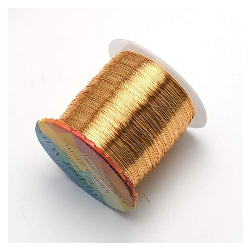 YJZZ Joyería WireSolid desteñible Alambre de Cobre Resistente al deslustre rebordeando el Alambre de Bricolaje joyería del Arte de elaboración de Accesorios de 18 a 32 Gauge