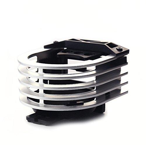 XFAY Support Porte-gobelet en Aluminium, Support Voiture Universel Multifonctionnel Grille d'aération / Ventilation pour Gobelet / Smartphone / Tasse / Bouteille / Canette / Clé / Carte ect. - Argent