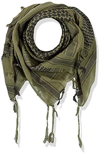 Mil-Tec Sciarpa shemagh 110x 110cm Olive/SCHW.