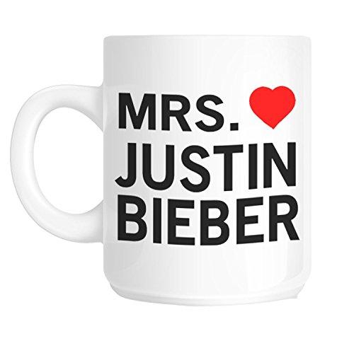Acen Mrs. Justin Bieber Tasse aus Keramik, Weiß, 325ml