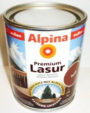 ALPINA Premium Lasur, 750 ml, Holz Dickschichtlasur außen, Farblos,