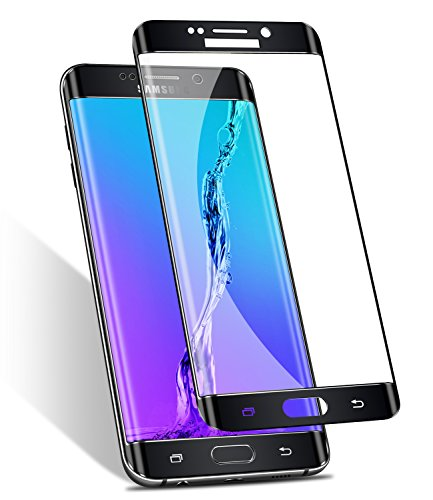 Galaxy S6 Edge Screen Protector,Elebase 3D CurvedTempered Glass,Anti-Scratch,9H Hardness,Full Coverage,Ultra HD Clear Anti-Bubble Film for Samsung Galaxy S6 Edge (Black)