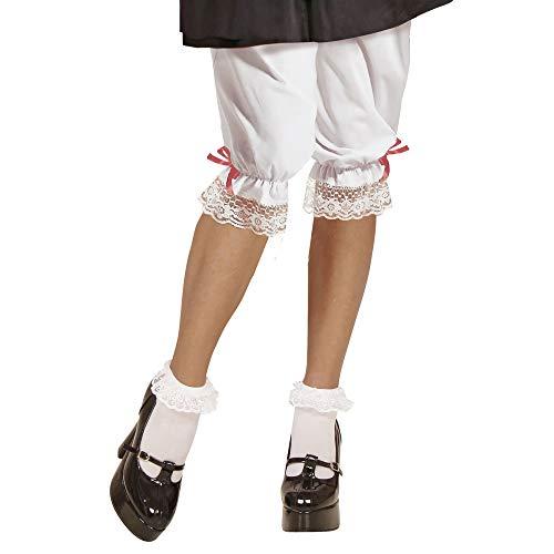Widmann 3014B - Kniehöschen für Erwachsene, Weiß, lange Unterhose, Mottoparty, Karneval, Oktoberfest