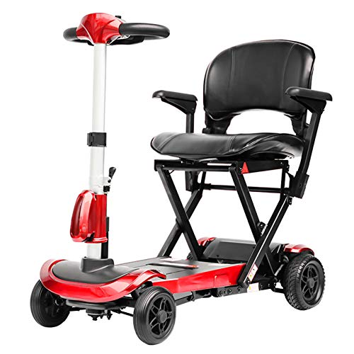 LIYIN Scooter de Movilidad - Patinetes eléctricos Plegables y Ligeros Patinete eléctrico de Movilidad Compacto y portátil para Adultos Mayores discapacitados Viajes, 6 km/h