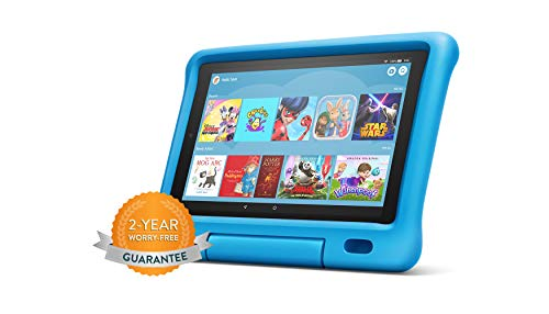 Fire HD 10 Kids Edition Tablet | 10.1' 1080p Full HD Display, 32 GB, Blue Kid-Proof Case