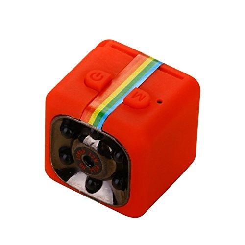 LanXi (® SQ11 Full HD 1080p Mini Auto Hidden DV DVR Kamera Spy Dash Cam IR-Nacht-Vision (Rot)