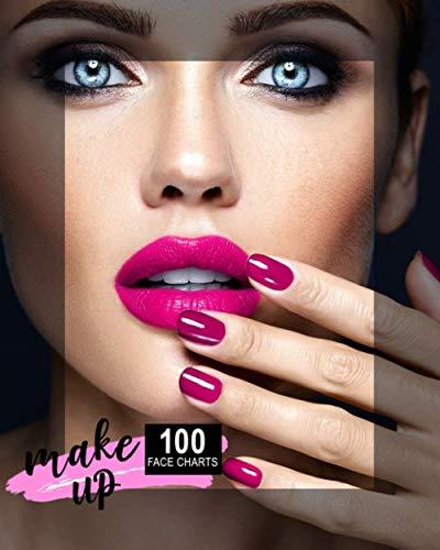 Makeup: 100 Face Charts per creare i tuoi makeups. Perfetto per MUA ed uso personale.