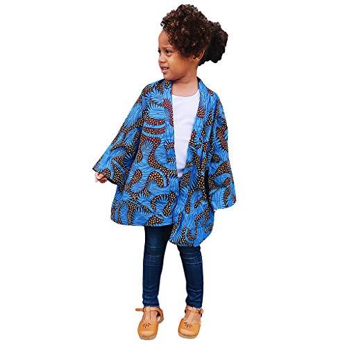 K-Youth Abrigos Bebe Niña Invierno Bohemia Africana Estilo Nacional Cardigan Niño Kimono Chaqueta Bebe Niño Otoño Tops Ropa Bebe Recien Nacido Niño Abrigo Niños Unisex (Azul, 12-18 Meses)