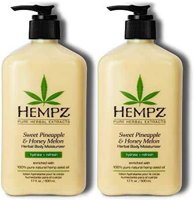 Hempz Sweet Pineapple Honey Melon Moisturizing Skin Lotion Natural Hemp Seed Herbal Body Moisturizer product image