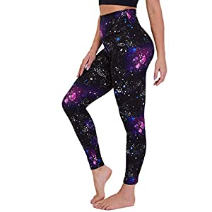 Gayhay High Waisted Leggings for Women – Soft Opaque Slim Tummy Control Printed Pants for Running Cycling Yoga