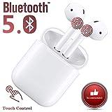 Écouteurs sans Fil 5.0 Touch Headset Bluetooth, oreillette Bluetooth,...