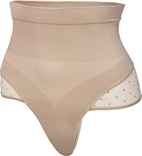 ESMARA® Damen Shapewear Formstring figurformend, Seamless (beige, Pünktchen-Spitze, Gr. XL 48/50)