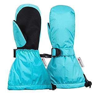 Ami&Li tots Waterproof Mittens for Toddler Girls Boys Winter Ski Warm Baby Gloves Kids Snow Gloves with Adjustable Cuffs