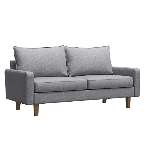 VASAGLE Comfortable Sofa, Couch with Solid Wood Frame and Breathable Linen Fabric, for Guest Room, Teenager's Room, and Small Apartment, 70.1 x 33.3 x 32.7 Inches, Light Gray