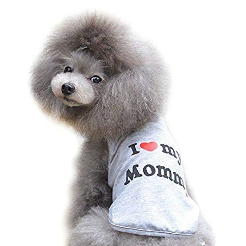 Ducomi® Pets Love - T-Shirt für Hund und Katze in Baumwolle (M, I Love My Mommy)
