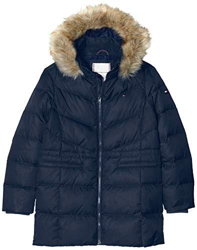 Tommy Hilfiger Mädchen DG ESSENTIAL DOWN COAT Mantel,  Blau (Blue Cbk), 128  (Herstellergröße:8)