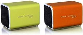 Music Angel Friendz Speaker Twin Pack Bundle for iPhone/iPad/iPod/Mp3/Laptop/Smartphone - Lime/Orange
