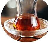 Topkapi - Set di 6 sottobicchieri da tè in vetro turco Zeynep, rotondi, Ø 10,2 cm