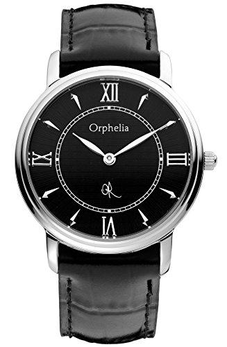 Orphelia 155-1701-44 - Reloj analógico de Cuarzo para Mujer con Correa de Piel, Color Negro
