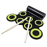 Electronic Drum Set, Roll Up Drum Practice Pad Midi Drum Kit with Headphone