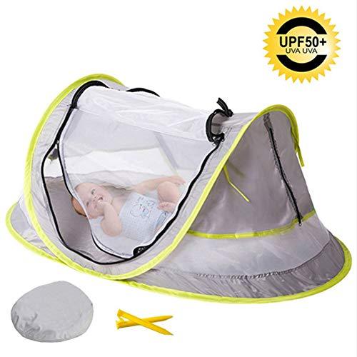 Baby Strand Tent Draagbare Baby Reizen Bed Zonnekastjes voor Baby Pop Up Beach Tent Baby Reizen wieg met Muggennet Zonnekap