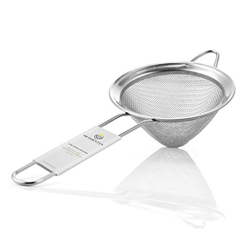 Fine Mesh Sieve Strainer Stainless Steel Cocktail Strainer Food Strainers Tea Strainer 3.3 inch by Homestia