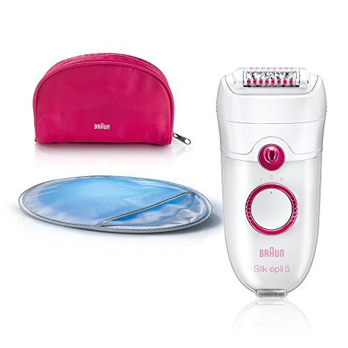 Braun Silk-épil 5 5185 Young Beauty 40pinzette Rosa, Bianco, pink, white