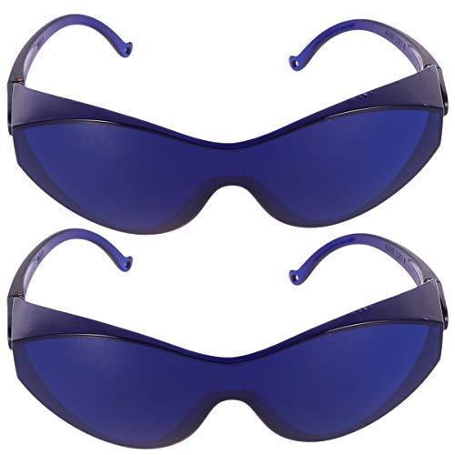 MILISTEN 2 Stück IPL-Brille Schutzbrille UV-Brille Haarentfernung Augenklappe Blau
